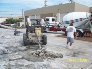 Concrete Removal Project in Long Beach California