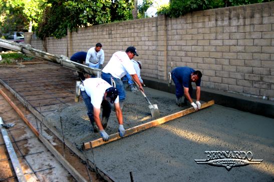 sierra madre concrete driveway